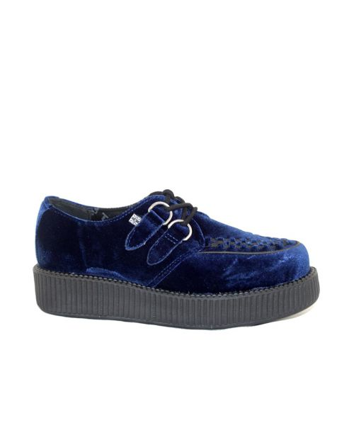TUK Midnight Blue Velvet Viva Low Blue