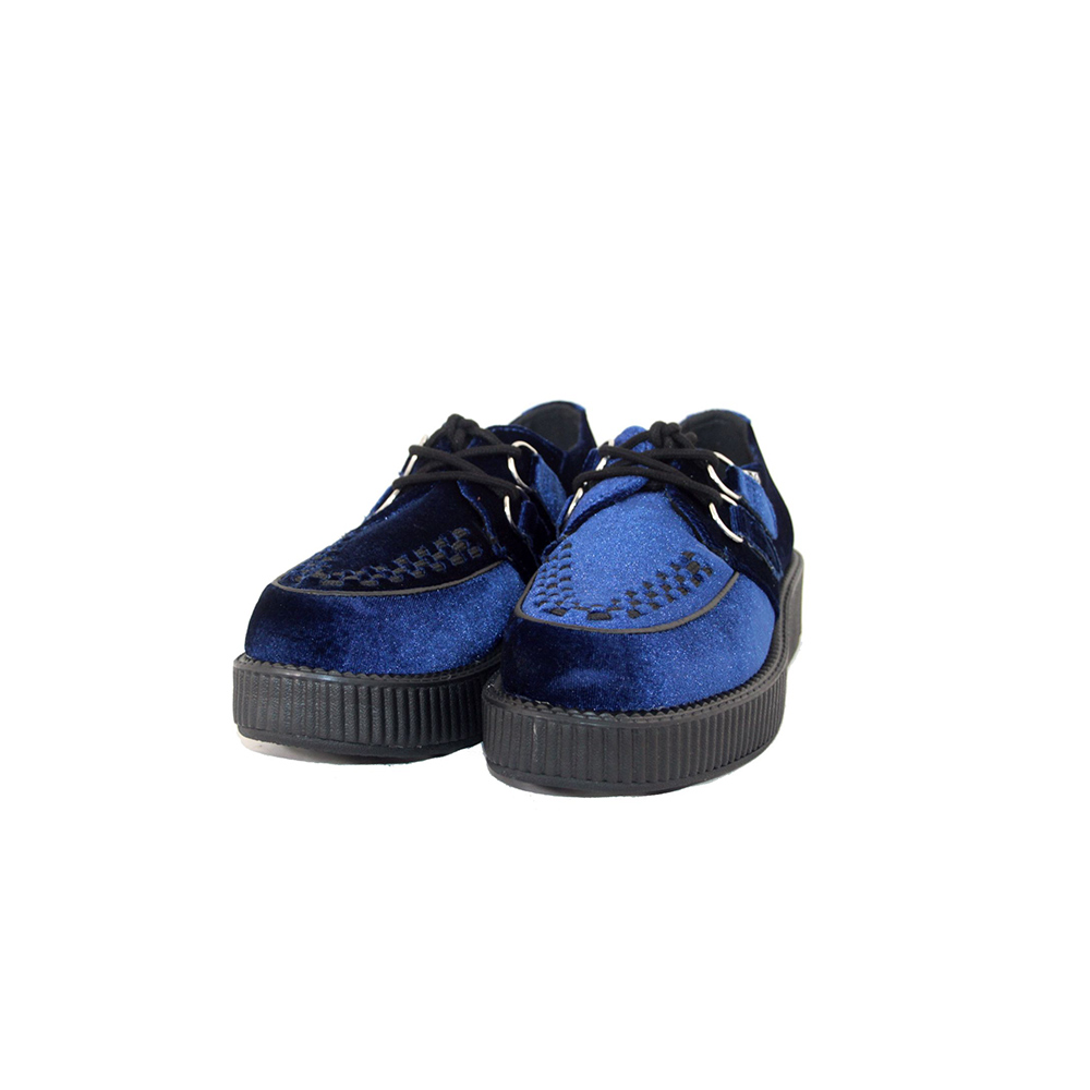 TUK Midnight Blue Velvet Viva Low Blue