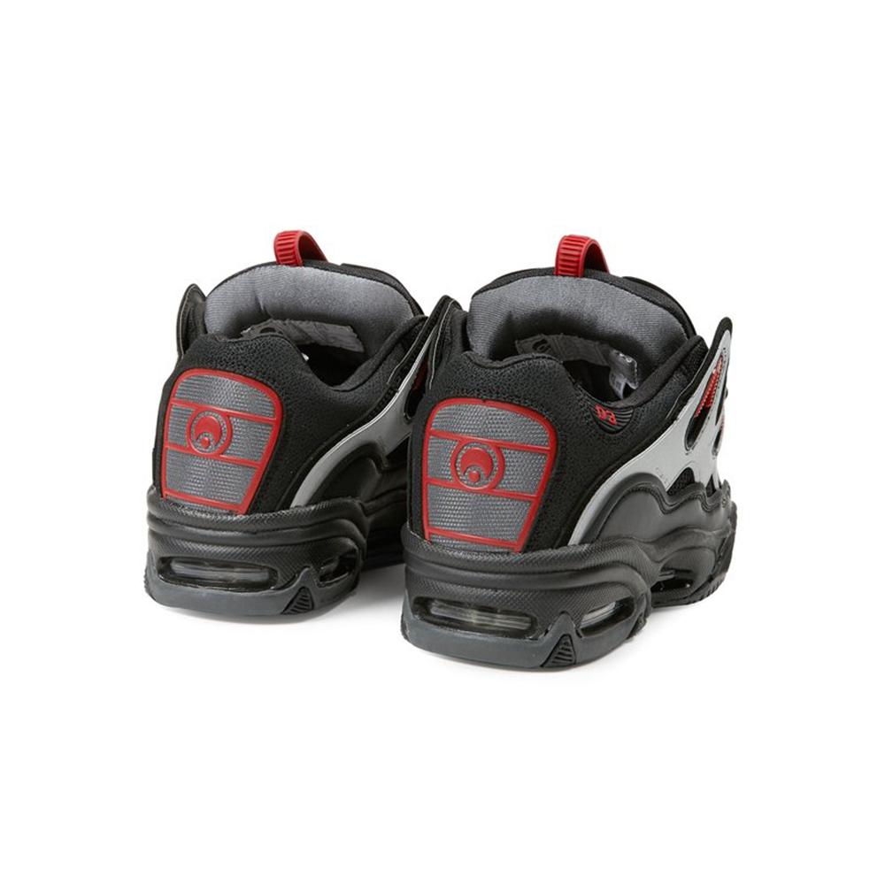OSIRIS Scarpe 2001 D3 Black: Charcoal: Red