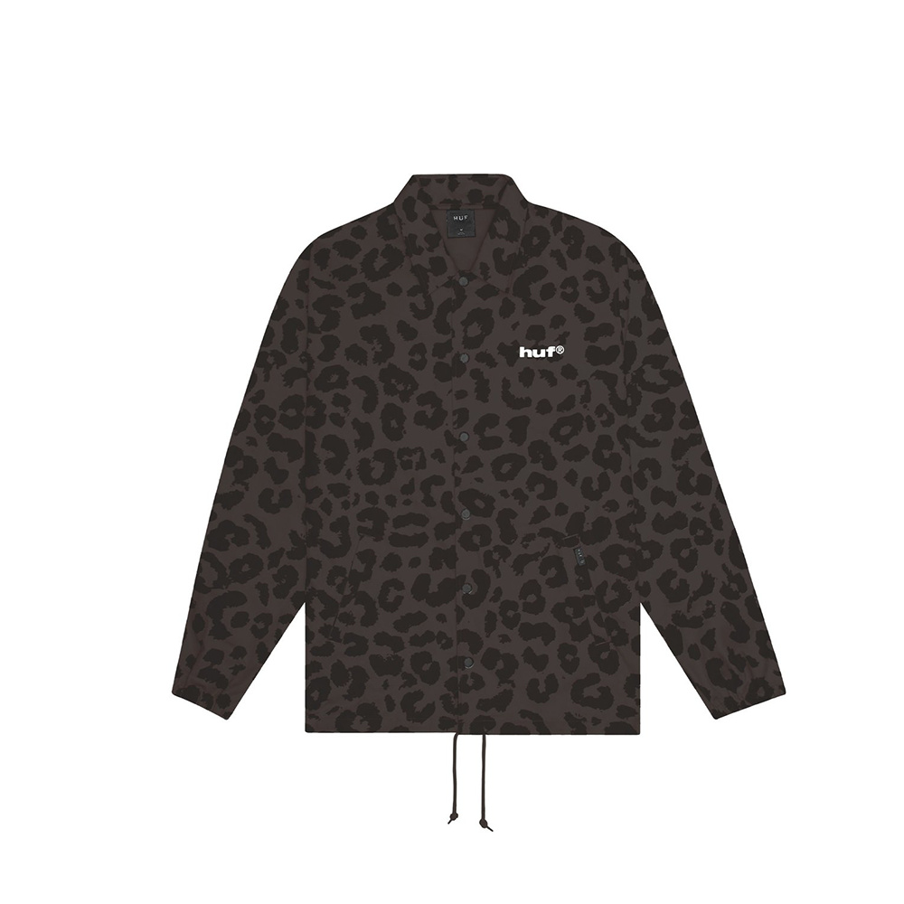 Huf Jacket Neo Leopard Coach BLACK