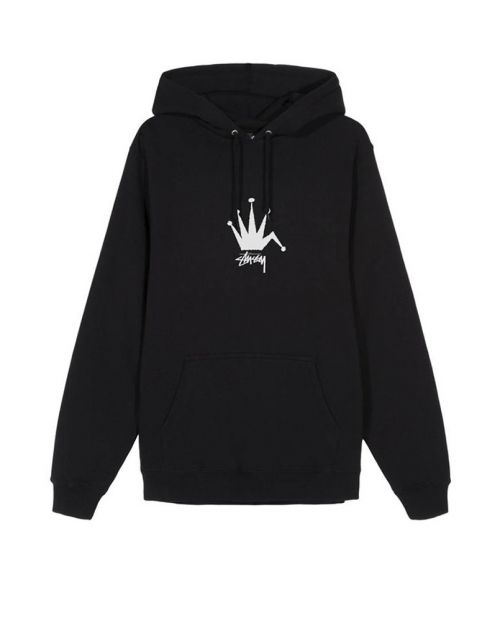 Stussy Felpa Old Crown Hood Black