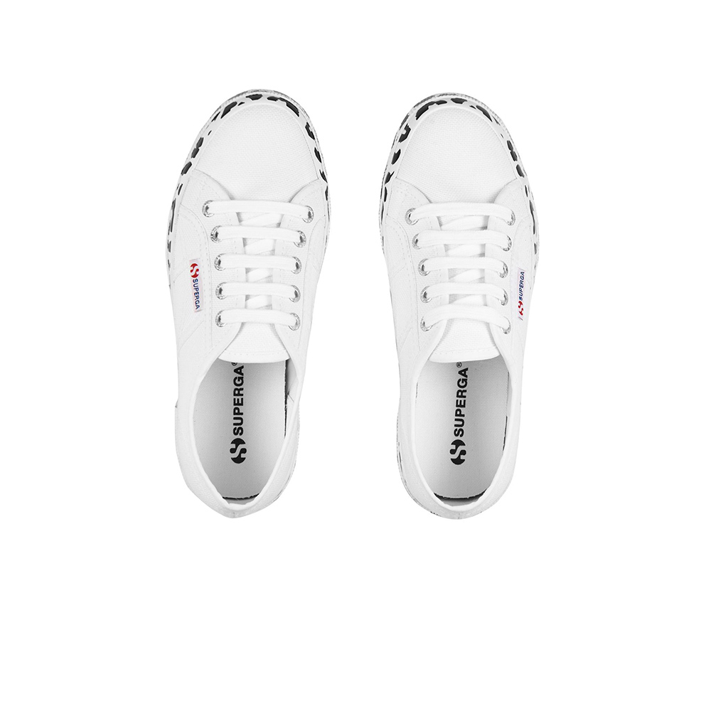 Superga 2790 CotW Priunted Foxing -WHT Leopard