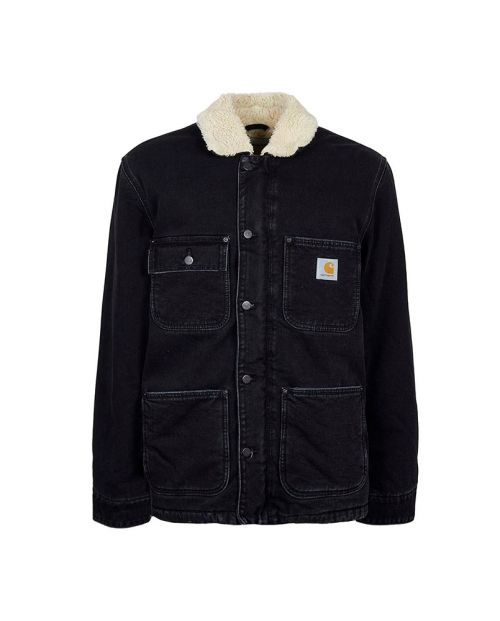 Carhartt Fairmount Coat Black Stone Washed1