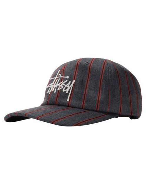 Stussy BIG LOGO Striped Low PRO CAP