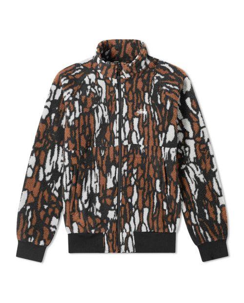 Stussy Tree Bark Fleece Jacket2-min 5
