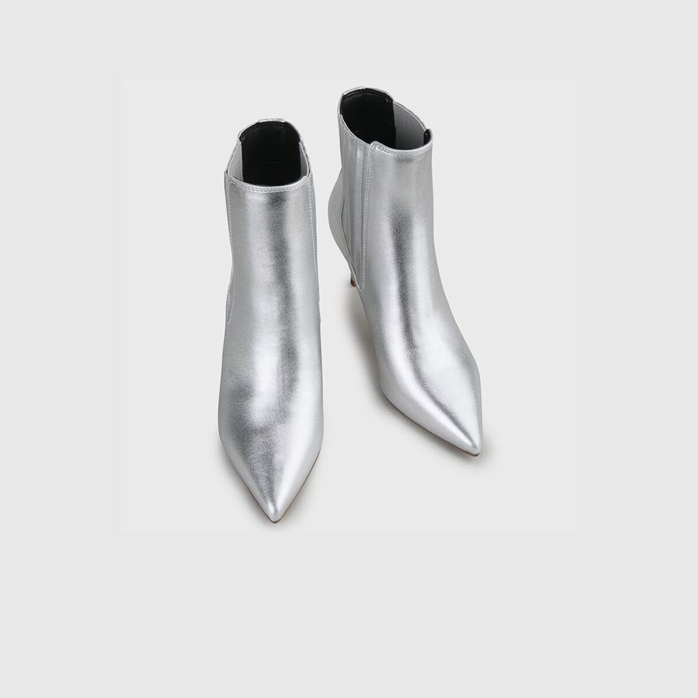 Buffalo Stivaletto Makenna Silver2