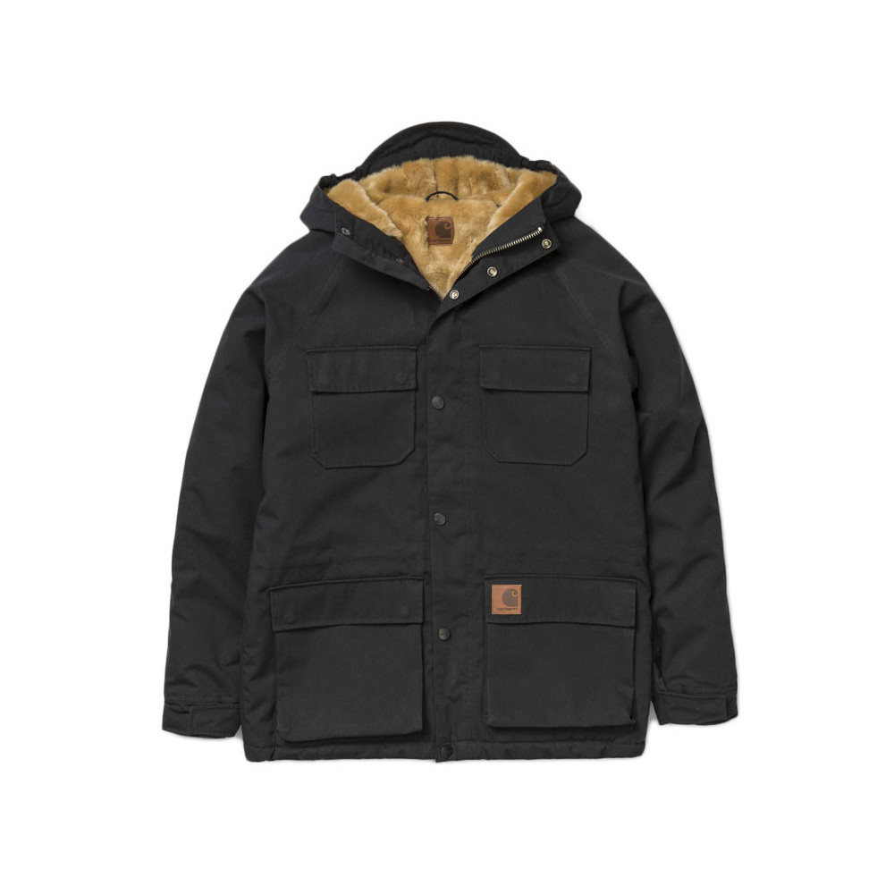 CARHARTT Giubbotto Mentley Jacket Black1
