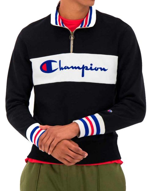 CHAMPION Sweatshirt Sudadera Premium Ringer Zip