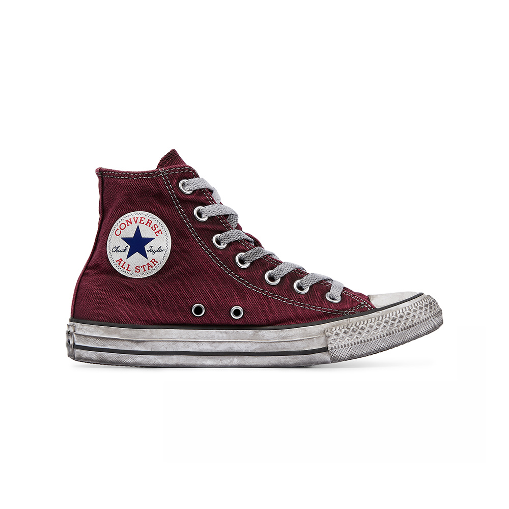 Converse All Star HI Canvas LTD Maroon Smoke1