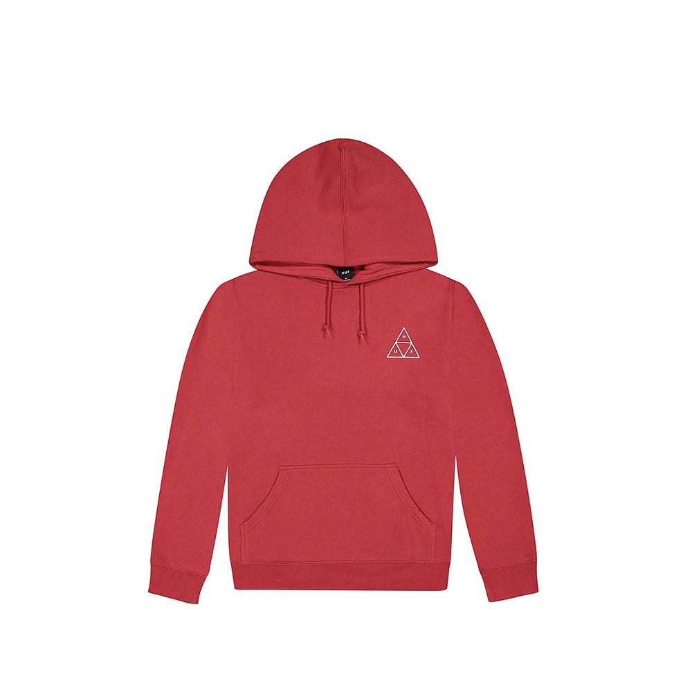 HUF Felpa Essentials TT P:O Hoodie Red