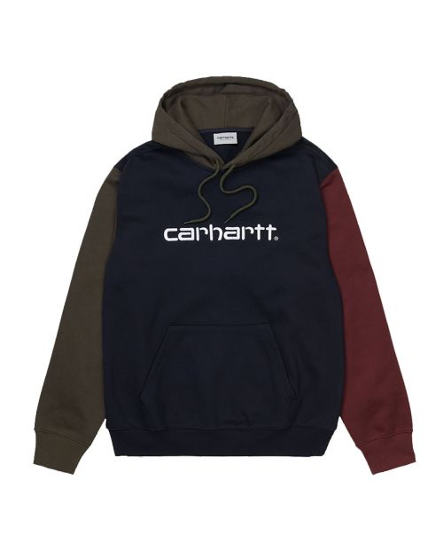 Hooded Carhartt Tricolor Sweat Navy