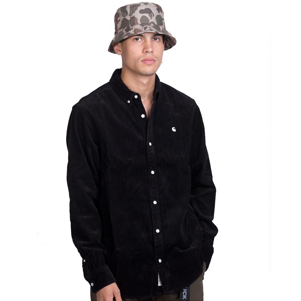 CARHARTT L/S Madison Cord Shirt - Black