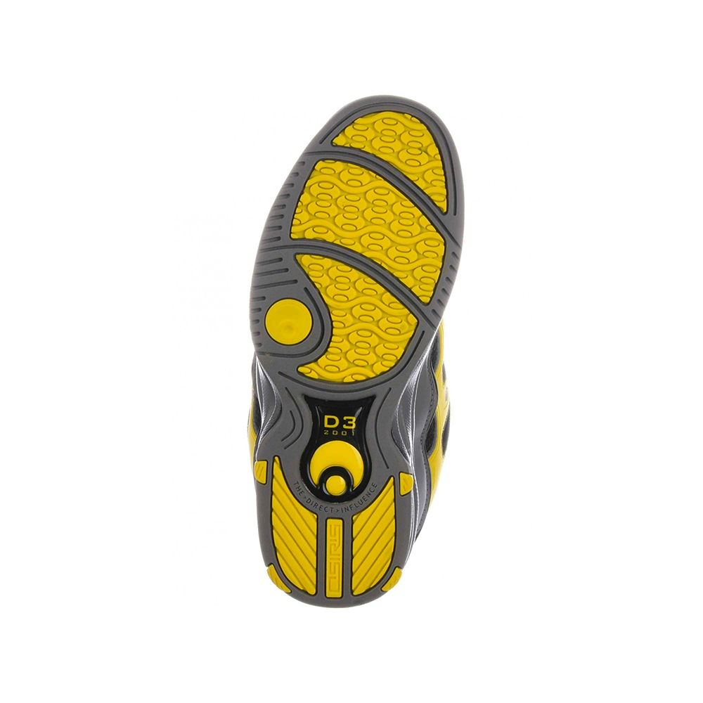 OSIRIS Scarpe 2001 D3 Black: Yellow: Charcoal
