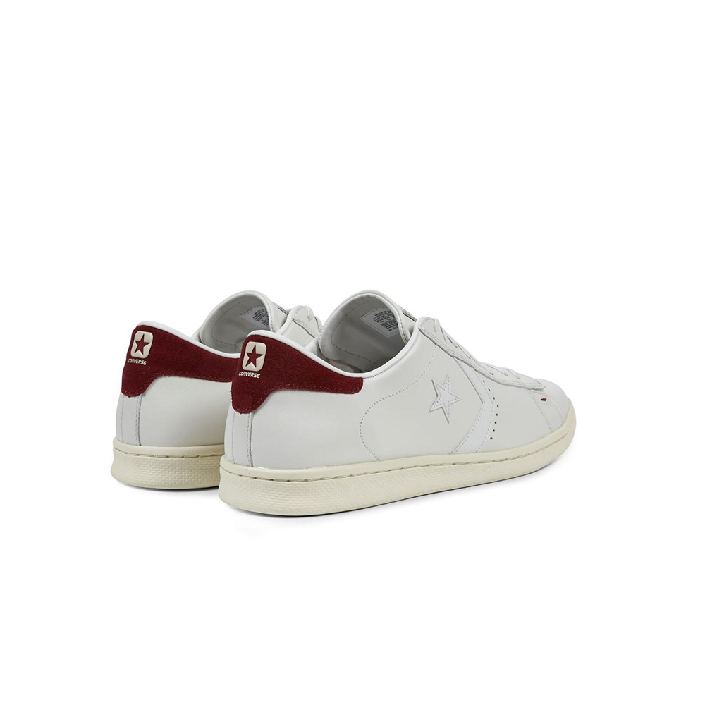 Converse Pro Leather LP OX -White Dusty:M (retro bordò)
