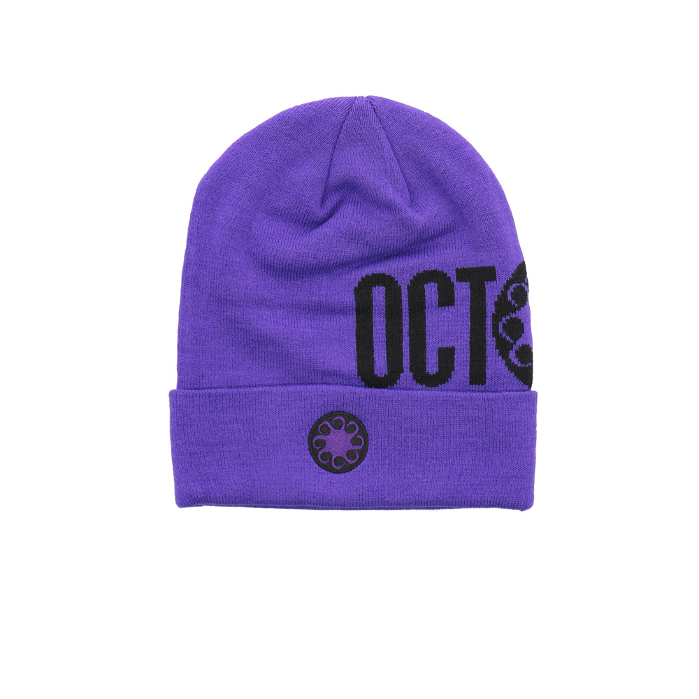 OCTOPUS Logo Fold Beanie - Purple